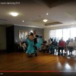 Screenshot of video featuring ballroom dancing