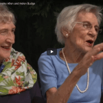 Screenshot of video featuring Jeanette Allen and Helen Budge
