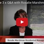 Screenshot of video featuring Rosalie Marshman